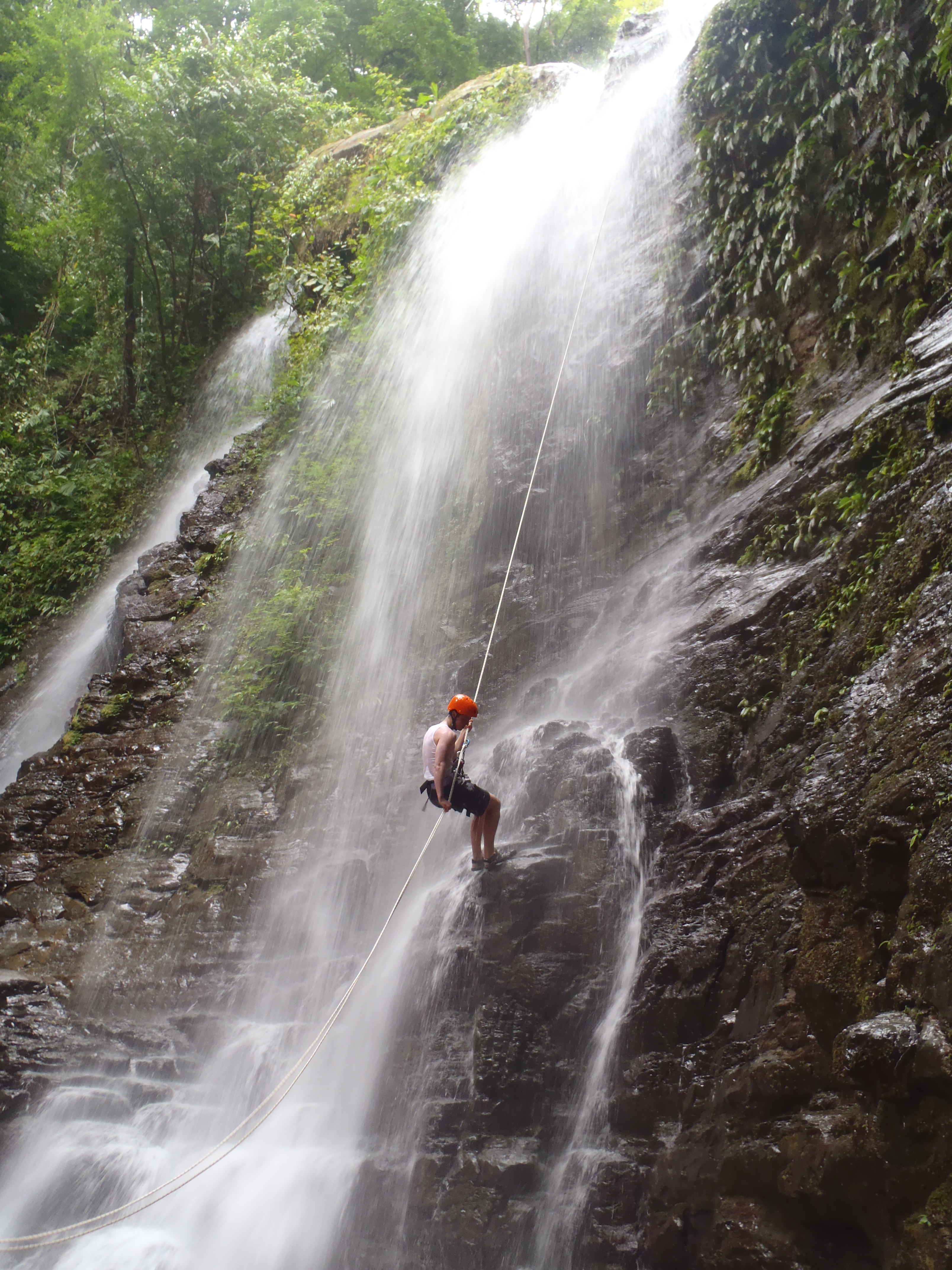 waterfall rappelling osa mountain village